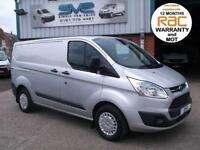 2014 FORD TRANSIT CUSTOM SWB TREND 100BHP 6 SPEED 47,000 MILES IN SILVER @ SVS