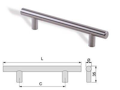 maniglia per mobile in acciaio satinato mm 128 192 320 640 cucina armadio