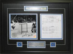 Autographed Daryl Sittler 10 point game commemorative plaque