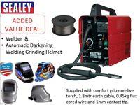 ealey MIGHTYMIG100 100amp Mig Welder + Wire + Darkening Welding Helmet
