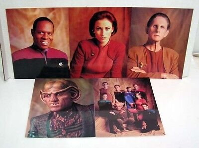 Gebruikt, Star Trek:Deep Space 9  8x10 Glossy Postcard Set of 5  tweedehands  verschepen naar Netherlands