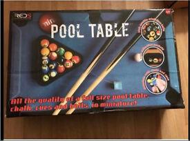 Mini Red 5 Pool Table