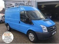 2010 60 FORD TRANSIT 6 SPEED 115BHP MEB MED ROOF WITH AIR CON EX BRITISH GAS DIE