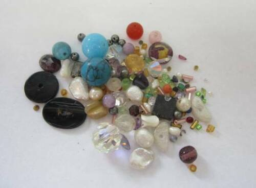 Lot Of 100 Carats Assorted Knock Out Gemstones & Beads Taken From Old Jewlery