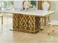 Italian dining table with 6 chairs