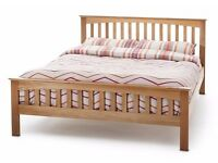 Brand New Wooden Oak 'Shaker' Double (4FT6) Bed Frame (FREE LOCAL DELIVERY!!!!)