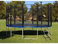 16ft Trampoline + FREE Safety Net Enclosure,+ Ladder, + Rain Cover, + Shoe Bag