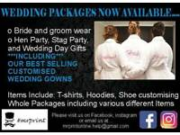 Personalised custom wedding tshirt gowns