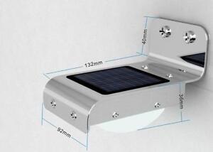 DE Solar 16 LED Lichtsensor Lampe Leuchte Wandleuchte Wandlampe Aussenleuchte