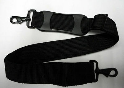 "Black Replacement Shoulder Strap 1 1/2"" x 51"" LG Adjustable for Luggage, Duffle"