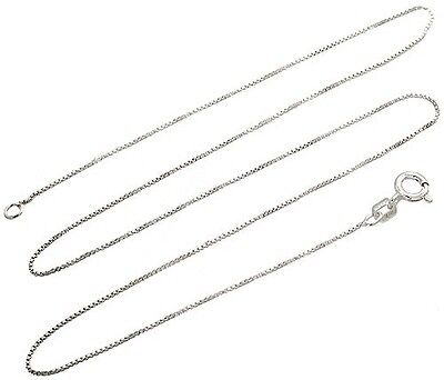 Jewellery - Sterling Silver Box Chain .8mm Genuine Solid 925 Italy Classic New Necklace