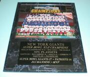 New York Giants Team Plaque