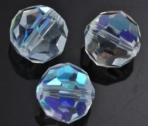 Round-Clear-AB-Faceted-Crystal-Glass-Beads-4mm-6mm-8mm-10mm-12mm