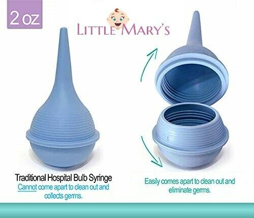 Booger Bulb CLEANABLE Baby Nasal Aspirator Nose Bulb Snot Sucker Ear Syringe
