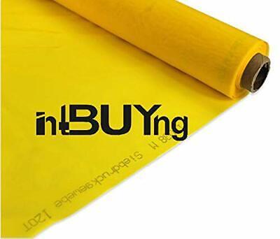1 Yard 300 Mesh Count Silk Screen Printing Mesh Fabric Polyester Yellow Material