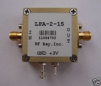 5-2400mhz 20db Gain 3v Rf Amplifier Lpa-2-15 New Sma