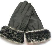 Rabbit Fur Lined Gloves
