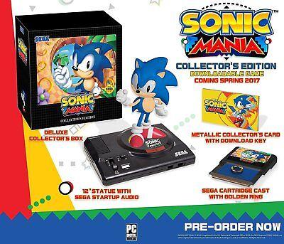 Sonic Mania  Collectors Edition  Xbox One Xb1  Collectible  Statue  Sega  New