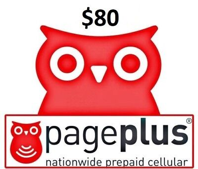 Page Plus  80 Refill 2000 Minutes   365 Days    Loaded Directly