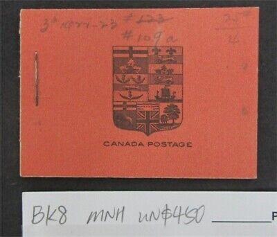 nystamps Canada Stamp # BK8 Mint OG NH UN$450   L16y3152