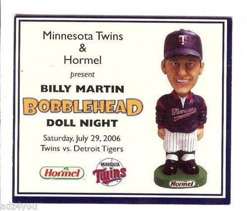 Mn Twins Bobbleheads Sports Mem Cards Amp Fan Shop Ebay