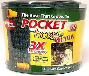 Pocket Hose Ultra Expandable Full Size Garden Hose, 75 FT, 3X Stronger