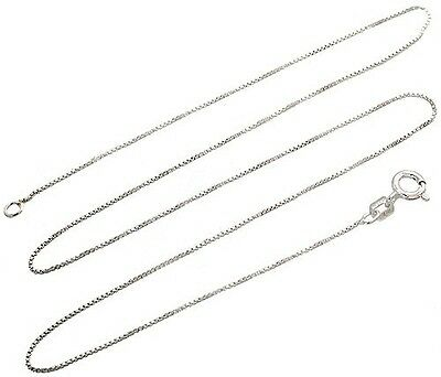 Sterling Silver Necklace BOX Chain Solid 925 Italy 1mm New Wholesale Prices Deal](Wholesale Necklaces)