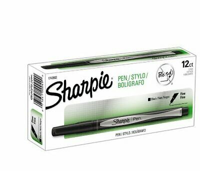 Sharpie Fine Point Writing Pen Open Stock-black 12 Total