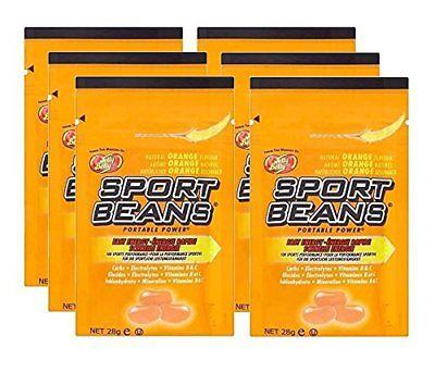Orange Sport Beans - Jelly Belly Sport Beans - Orange - 6 pack