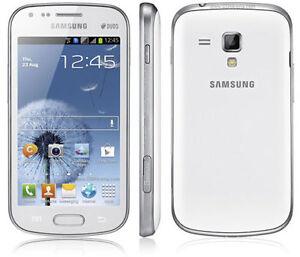 Brand New Samsung Galaxy S Duos GT-S7562 Dual SIM Mobile Phone Unlocked white