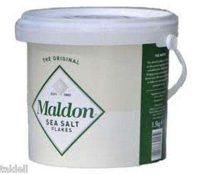 FAMOUS ORGANIC MALDON SEA SALT FLAKES - 1.4 KILO BUCKET (QUICK POST)