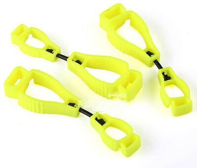 New 3x Yellow Glove Guard Clip For Work Safety With Patented Safety Break Away