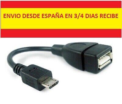 CABLE ADAPTADOR HOST OTG USB 2.0 HEMBRA A MICRO USB MACHO DESDE...