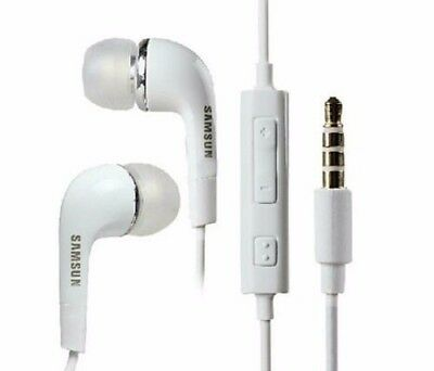 New Samsung White Hands free Mobile Headphones Earbud with Mic For All Devices