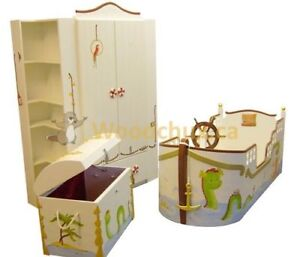 ANCHORS AWEIGH - TWIN Bed & Bedroom Set , ♥‿♥