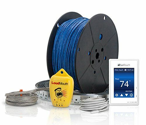 SunTouch WarmWire (120V) Floor Heat Kit, 45 SF Cable w/ Command Touch Thermostat