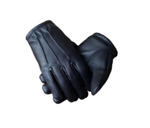 Men's Genuine Leather Police Driving Fashion Glove  Snug Fit