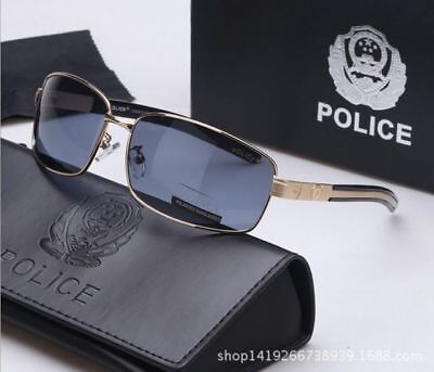 Gold frame Dark gray lens S9112 Polarization Sunglasses Pilot driving