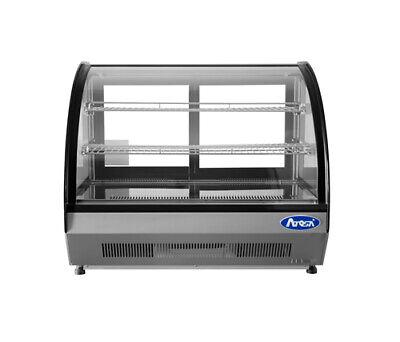 Atosa Crdc-35 Countertop Curved Glass Merchandiser Display Refrigerator