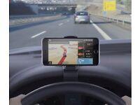 Smart phone holder for dashboard of car