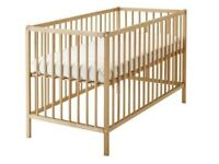 Ikea Cot Package (All As New) including Luxury Mothercare Mattress AND waterproof cover/two sheets
