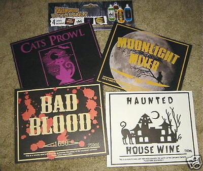 Halloween  bottle 8 labels beer soda & POP Bottles blood cats Witch poison Bar ](Poison Bottle Labels Halloween)