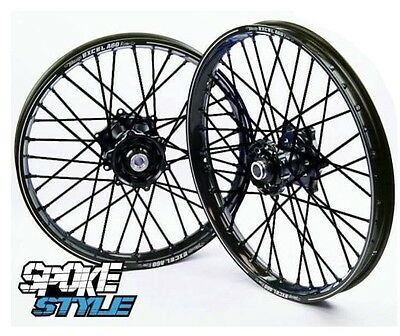 Spoke Style Speichen Cover Überzug MX Motocross Schwarz Black