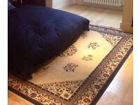 Ethnic blue patterned rug