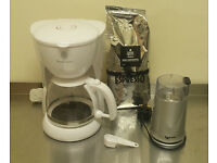 Coffee Making Set including Russell Hobbs coffee maker, Coffee bean grinder and coffee beans