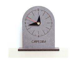 Carpe Diem Wooden Table Desk Clock Modern Art Home Decor Interior  Gift - Crete1