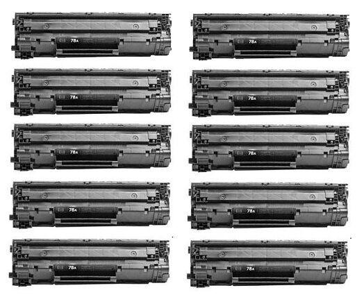 10pk Toner For Hp Ce278a 78a Hp Laserjet Pro P1566 Pro P1...