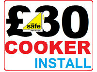 Gas and Electrician - Cooker Installation with Certificate £30 - plumber cheap Safe Corgi Installer