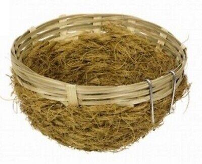 Bambusnest mit Kokosfasern 13cm Vogelnest