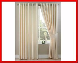 Ring Top Faux Silk Curtain